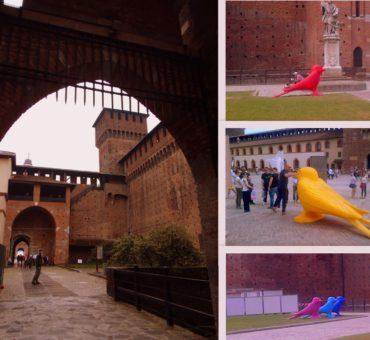 Niecodzienne widoki w Zamku Sforzów w Mediolanie