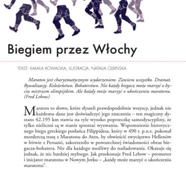 """""""Biegiem przez Włochy"""" – w La Rivista piszę o włoskich maratonach"""