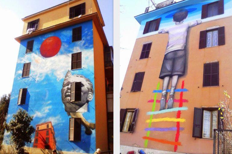 Rzym inaczej – murale w dzielnicy Tor Marancia